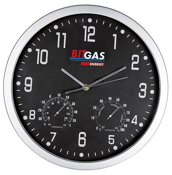 Nástěnné hodiny s teploměrem a vlhkoměrem 2f6955c904